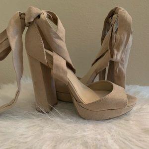 Wild Diva - Tie up Sandals/Heels